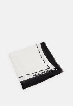 KARL LAGERFELD - IKONIK GRAFFITI SCARF - Chusta - black/white
