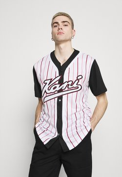 Karl Kani - VARSITY BLOCK BASEBALL - Hemd - black