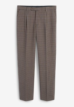 Next - TAILORED FIT DOGTOOTH  - Anzughose - brown