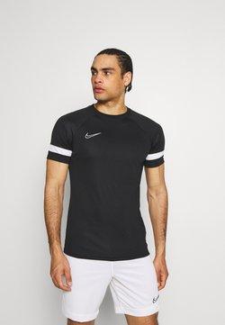 Nike Performance - ACADEMY 21 - T-shirt print - black/white