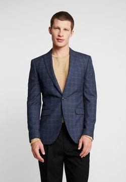 Topman - JON HERITAGE CHECK JACKET - Suit jacket - navy