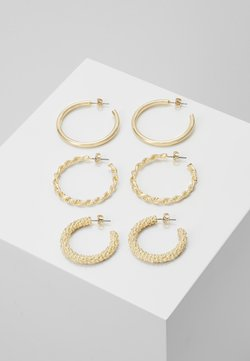 Pieces - PCJOLINA EARRINGS 3 PACK - Earrings - gold-coloured