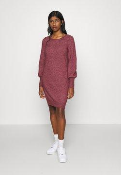 Vero Moda - VMSIMONE O-NECK - Robe pull - cabernet/melange