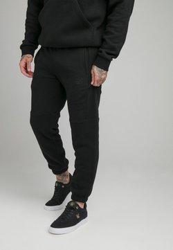 SIKSILK - ELASTIC CUFF PANT - Jogginghose - black