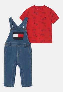Tommy Hilfiger - BABY SET UNISEX - Tuinbroek - denim medium