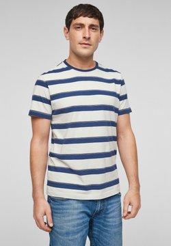 s.Oliver - T-Shirt print - offwhite stripes