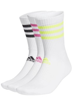 adidas Performance - 3-STRIPES CUSHIONED CREW SOCKS 3 PAIRS - Sportsocken - white