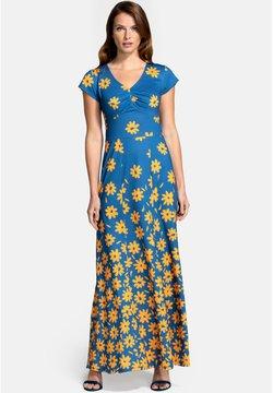 HotSquash - Maxikleid - daisy placement blue yellow