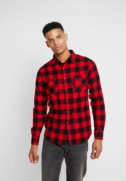Urban Classics - CHECKED - Hemd - black/red