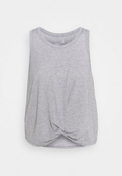 GAP - SLEEVELESS TWIST FRONT  - Tekninen urheilupaita - medium grey
