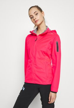 CMP - WOMAN JACKET ZIP HOOD - Softshelljacke - gloss