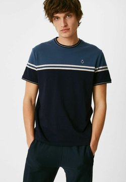 C&A - T-Shirt print - dark blue / blue / white