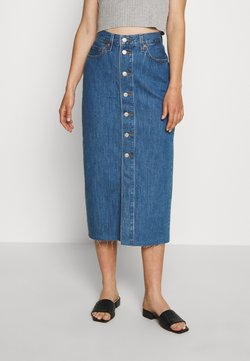 Levi's® - BUTTON FRONT MIDI SKIRT - Gonna a tubino - middlebrook