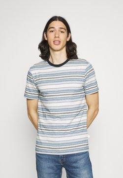 KnowledgeCotton Apparel - ALDER STRIPED TEE - T-Shirt print - asley blue