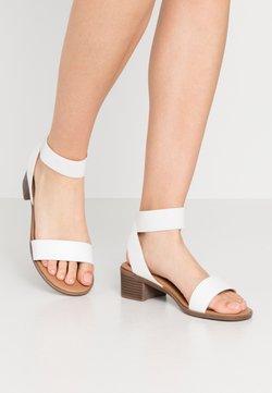 New Look Wide Fit - WIDE FIT POWER BLOCK HEEL - Sandales - white