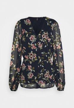 Vero Moda Tall - VMKAY V NECK - Bluse - navy blazer