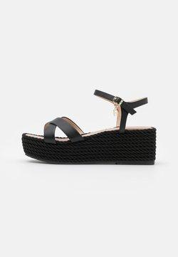 AIGNER - GRAZIELLA  - Sandalen met plateauzool - black