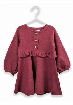 Cigit - RUFFLED THESSALONIKI DRESS 1 TO 7 YEARS - Korte jurk - burgundy