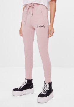 Bershka - AUS PLÜSCH - Leggings - Hosen - pink