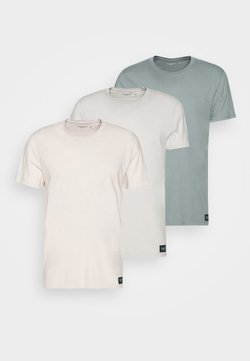Abercrombie & Fitch - CREW 3 PACK - T-shirt basic - pink/tan/blue
