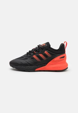 adidas Originals - ZX 2K BOOST 2.0 UNISEX - Zapatillas - core black/solar red/semi solar gold