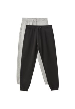 PULL&BEAR - 2 PACK - Jogginghose - dark grey