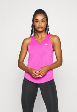 Nike Performance - TANK BREATHE - Camiseta de deporte - fire pink/reflective silver