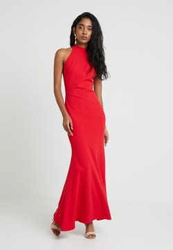 Club L London - HIGH NECK DRESS - Vestido largo - red