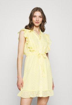 Colourful Rebel - EMBROIDERY MINI DRESS - Freizeitkleid - yellow
