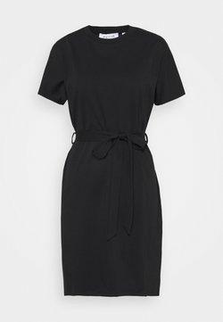 NU-IN - CAP SLEEVE MINI DRESS - Jersey dress - black