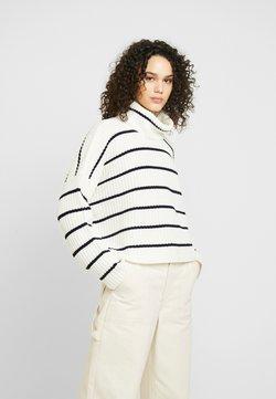 Glamorous - STRIPE ROLL NECK JUMPER - Trui - white black