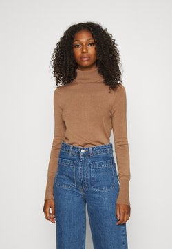 ONLY - ONLVENICE ROLLNECK - Strickpullover - toasted coconut