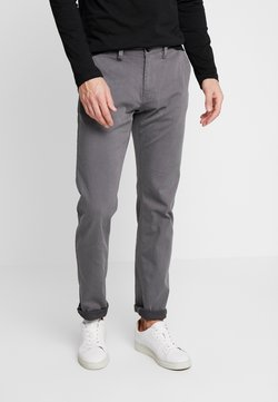 TOM TAILOR - WASHED STRUCTURE CHINO - Chinot - grey yarndye structure