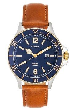 Timex - HARBORSIDE 42 mm BRACELET - Montre - brown/ silver-coloured/blue