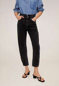 Mango - SLOUCHY - Jeans Relaxed Fit - black denim