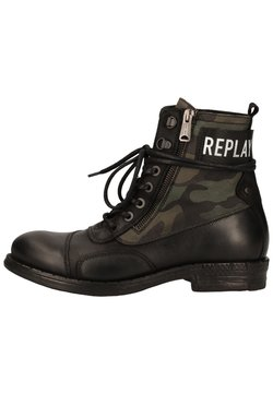 Replay - Schnürstiefelette - black military green