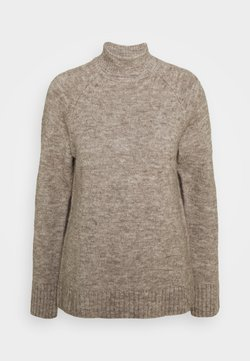 Anna Field - PERKIN NECK- WOOL BLEND - Pullover - taupe