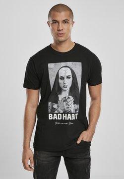 Mister Tee - BAD HABIT - T-shirt imprimé - black