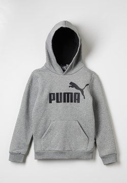 Puma - LOGO HOODY  - Kapuzenpullover - medium gray heather