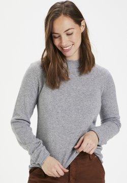 Culture - Stickad tröja - light grey melange