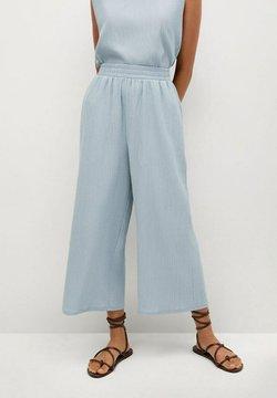 Mango - Spodnie materiałowe - sky blue