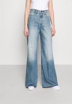 G-Star - DECK ULTRA HIGH WIDE LEG - Flared Jeans - light-blue denim