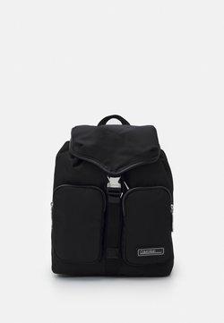 Calvin Klein - FLAP - Reppu - black