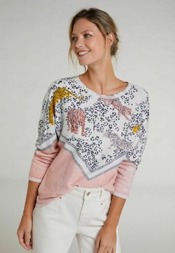 Oui - Strickpullover - rose white