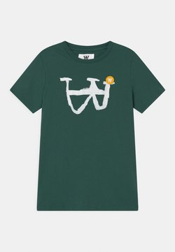 Wood Wood - OLA UNISEX - T-shirt print - faded green