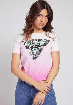 Guess - LOGODREIECK - T-Shirt print - rose
