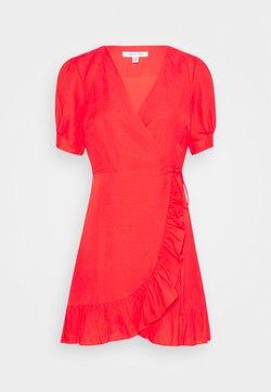 Forever New - BOSTON WRAP SKATER DRESS - Freizeitkleid - red