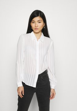 Anna Field - Semi sheer blouse - Camisa - white