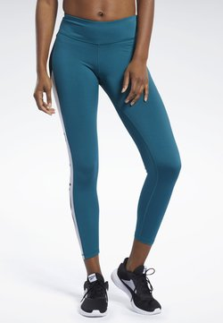 Reebok - WORKOUT READY LOGO TIGHTS - Tights - heritage teal