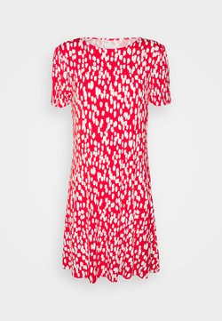Marks & Spencer London - PRINT SWING DRESS - Jerseykleid - red